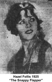 Hazel Follis as snappy flapper