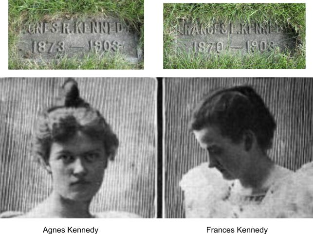 School teachers Agnes and Francess died at the Iroquois theater