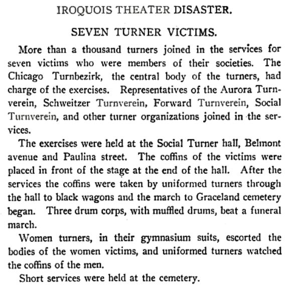 Marshall Everett on Turners in Iroquois Theater book